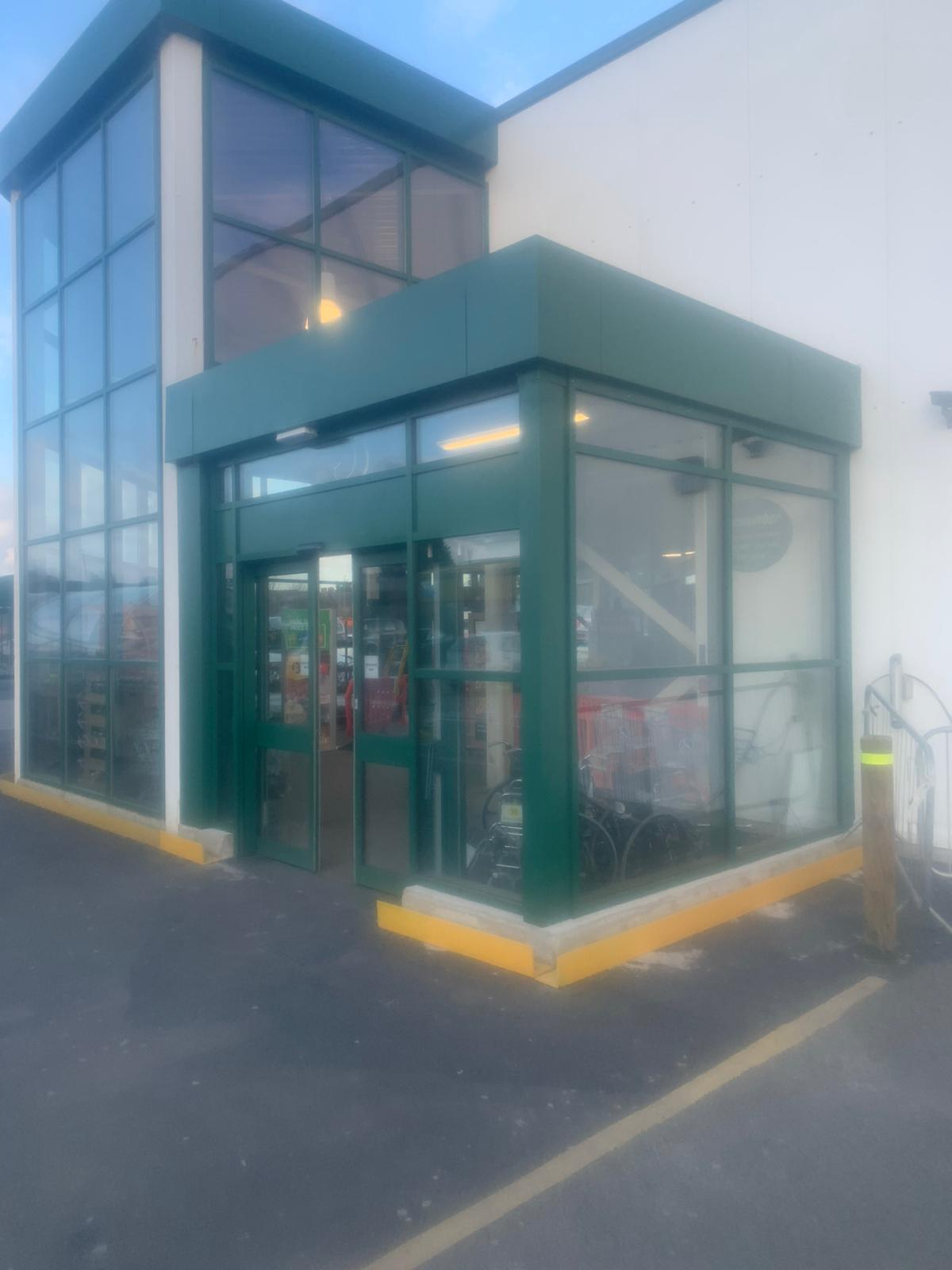 Morrisons curtain wall & auto doors